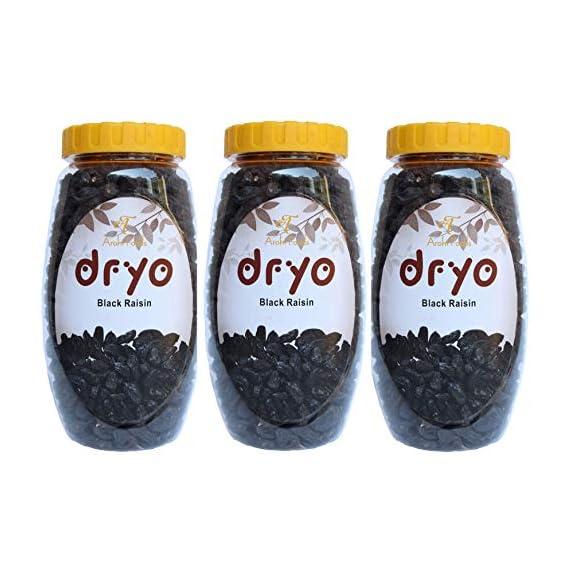 Dryo Dry Fruit Combo Black Raisin (Seedless) (Pack of 3)