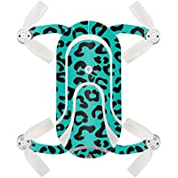 Skin For ZEROTECH Dobby Pocket Drone – Teal Leopard | MightySkins Protective, Durable, and Unique Vinyl Decal wrap cover | Easy To Apply, Remove, and Change Styles | Made in the USA