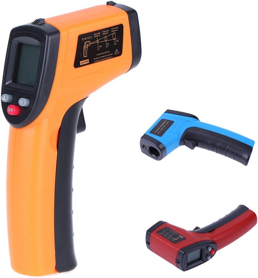 Blendx Mini GM320 Num/érique Thermom/ètre Infrarouge pour mesurer sans Contact Temp/érature Pistolet pr/écis Rouge