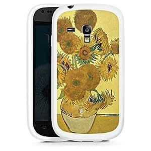 Silicona Carcasa blanco Funda para Samsung Galaxy S3 Mini - Sonnenblumen