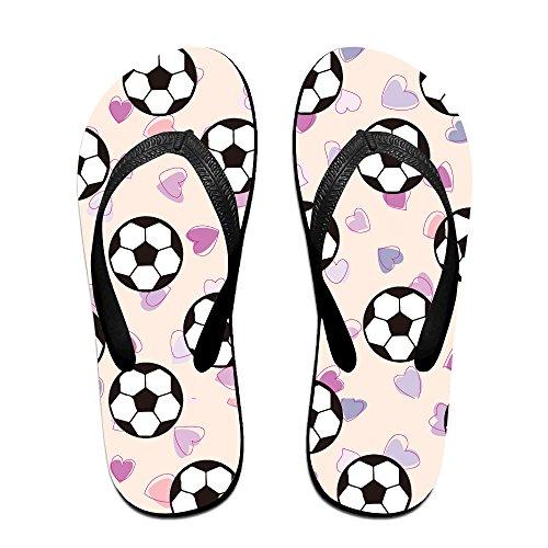 02d21cf1e0 best Football Heart Emoji Love Unisex Fashion Beach Slipper Indoor And  Outdoor Classical Flip-Flop