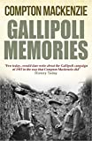 Gallipoli Memories by Compton Mackenzie front cover