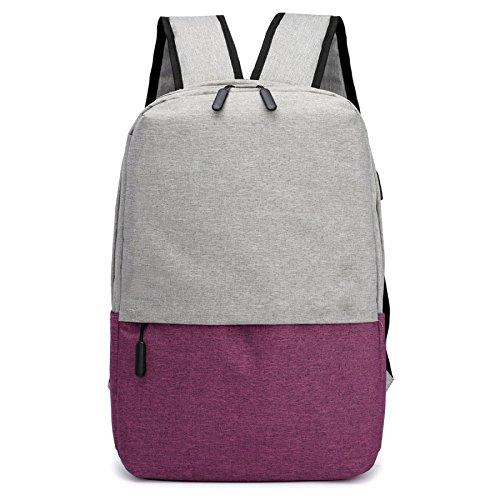 Backpacks Multi Backpack Charging Usb Computer Travel Bags function Purple Men's Business TYtwaqT
