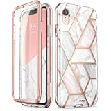 iPhone XR Case, [Built-in Screen Protector] i-Blason [Cosmo] Full-Body Glitter Bumper Case for iPhone XR 6.1 Inch 2018 Release (Marble)