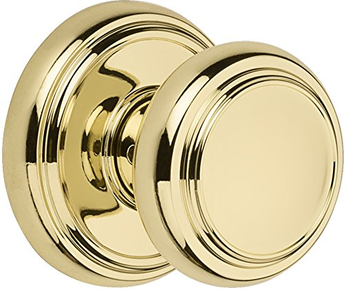 Baldwin Prestige Alcott Hall/Closet Knob in Polished Brass (Baldwin Locks Brass Door)