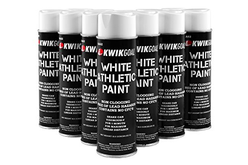 Kwik Goal Athletic Field Paint - Pack of 12 (White, 18-Ounce) (Baseball Field Lining)