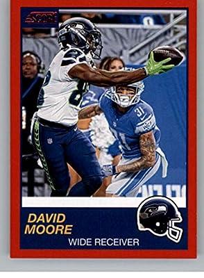 quality design b9274 16ed4 Amazon.com: 2019 Score Red Football #322 David Moore Seattle ...
