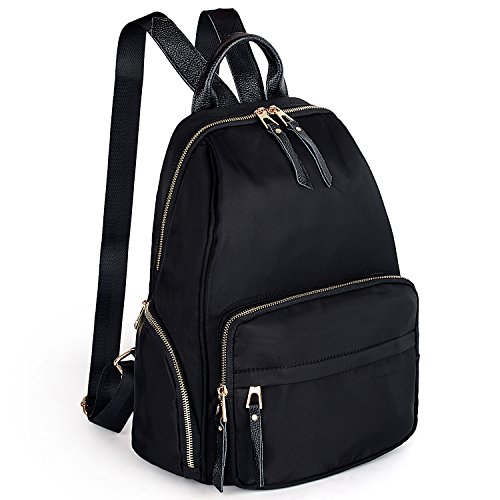 UTO Women Backpack Purse 3 ways Oxford Waterproof Cloth Nylon Ladies Rucksack Shoulder Bag _182_black