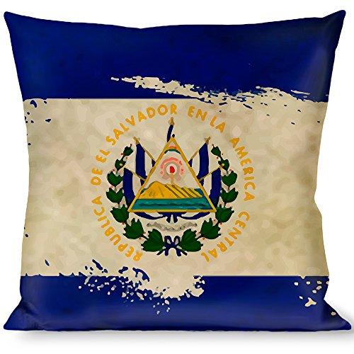 Pillow Decorative Throw El Salvador Flag Distressed Painting