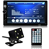 Car Bluetooth Radio MP5 Player,Powstro stereo System with 7 inch HD Multimedia Rear View Camera