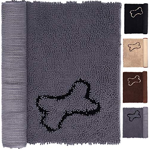 Pet Rugs Mats for Dog Cat Bathroom Door Rugs Shaggy Chenille Pet Area Rugs Petbed Ultra Soft Water Absorbent Machine…