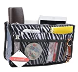 Purse Organizer,Insert Handbag Organizer Bag in Bag (13 Pockets 15 Colors 3 Size) (M, zebra stripes)