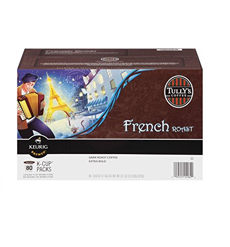 (Tully's French Roast K-cups, 80-Count)