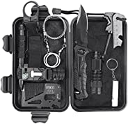 BestFire Survival Gear and Equipment, 10 in 1 Professional Survival Kit, Camping Hunting Gear Tools, First Aid
