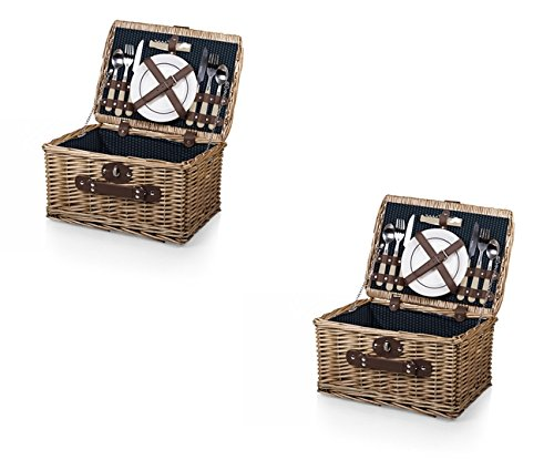 Catalina Picnic Basket - Picnic Time Catalina Basket - Navy, Set of 2