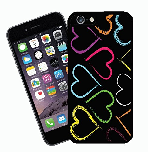Rainbow Hearts - This cover will fit Apple model iPhone 7 (not 7 plus) - By Eclipse Gift Ideas