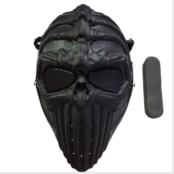 LIULINAN Horror Máscara Cráneo Máscara Halloween Máscara ...