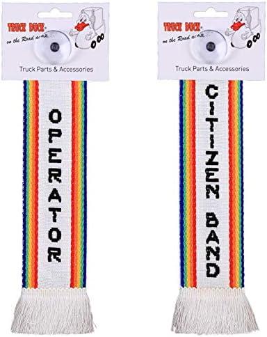 Amazon.es: TRUCK DUCK® - Mini bufanda para camión Citizen Band Operator CB Funk Trucker Mini Bufanda Bandera Ventosa Espejo Decoración