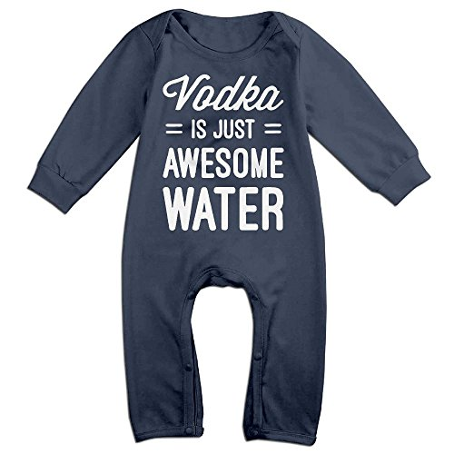 Baby Infant Romper Vodka Is Just Awesome Water Long Sleeve Playsuit Outfits Navy 18 Months