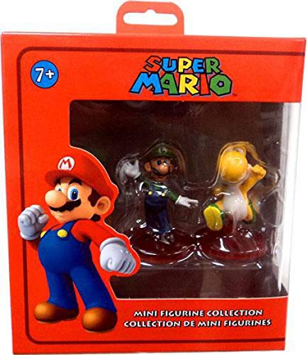 Nintendo Super Mario Mini Figurine Collector 2-Pack: Luigi Standing/Yellow Yoshi Mulit ()