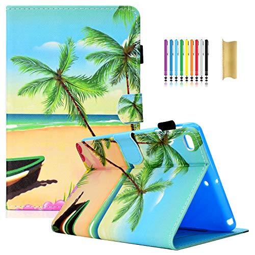 Dteck iPad Mini 1/2/3/4 Case - Slim Fit Colorful Design PU Leather Folio Smart Stand Case with Auto Wake/Sleep Magnetic Cover for Apple iPad Mini 4 / Mini 3 / Mini 2 / Mini 1, Beach