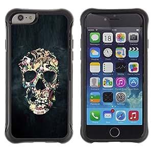 iBinBang / Funda Carcasa Cover Skin Case - Smoke Abstract Black Skull Fog Art - Apple iPhone 6 Plus 5.5