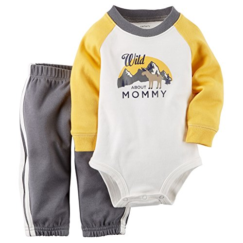 UPC 888510952329, Carters Baby Boys 2-Piece Bodysuit & Pant Set Wild About Mommy 24M