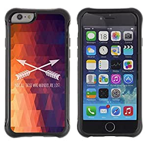 BullDog Case@ Polygon Arrow Text Pattern Fire Purple Rugged Hybrid Armor Slim Protection Case Cover Shell For iphone 6 6S CASE Cover ,iphone 6 4.7 case,iphone 6 cover ,Cases for iphone 6S 4.7