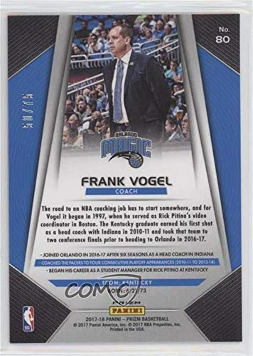 Amazon.com: Frank Vogel #/75 (Basketball Card) 2017-18 Panini Prizm - [Base] - Fast Break Purple Prizms #80: Collectibles & Fine Art