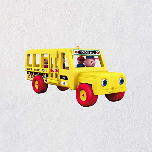 Hallmark Mini Fisher-Price School Bus Ornament, 0.46