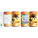 Graphics and More Protective Skin Sticker Case for iPhone 3G 3GS - Non-Retail Packaging - Palm Trees And Sunset Orange, Beach Tropical Ocean
