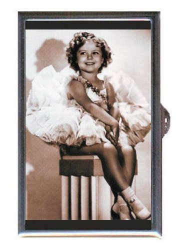SHIRLEY TEMPLE ADORABLE PHOTO 2 Coin, Mint or Pill Box: Made in USA! (Photo 2 Coin Mint)