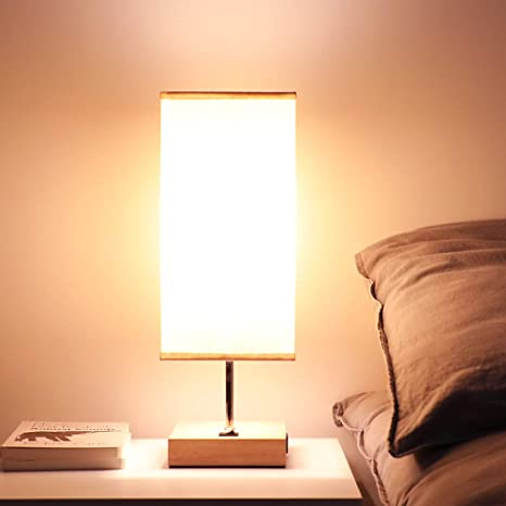 Bedside Usb Table Lamps For Bedroom Usb Charging Port Wood