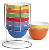 7 Piece Stackable Multi Colored Nesting Bowl Set