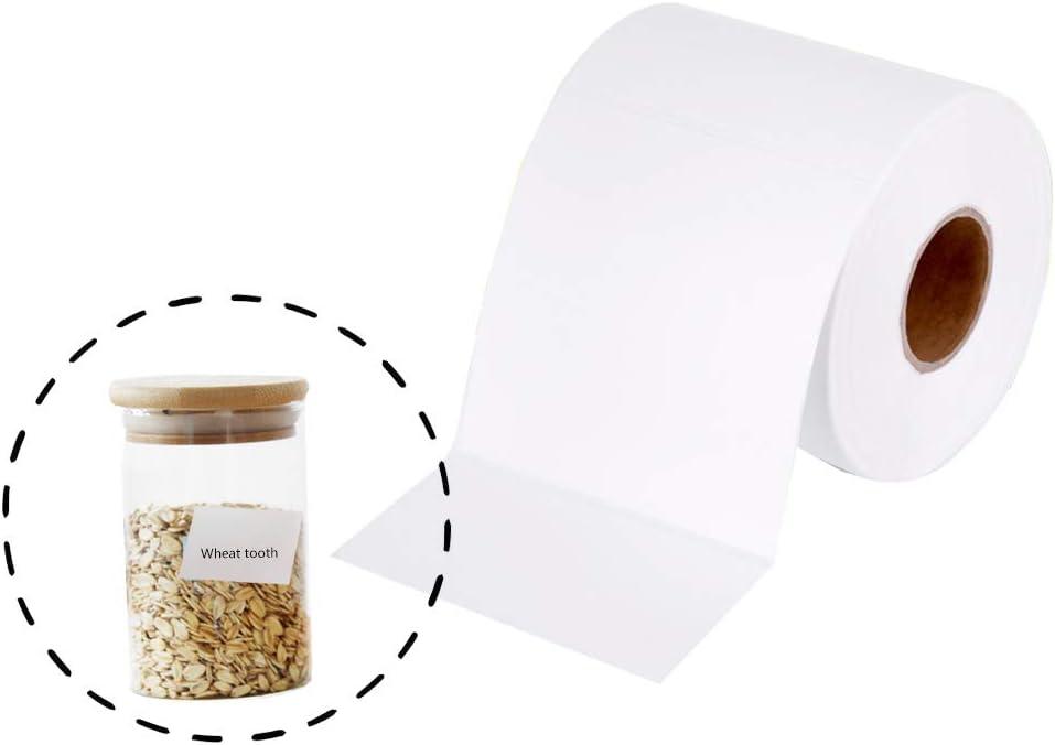 1500 etiquetas autoadhesivas para el hogar etiquetas en blanco en rollo 5x3 cm etiquetas impermeables etiquetas adhesivas etiquetas congeladas pegatinas en blanco para cocina de oficina atasco