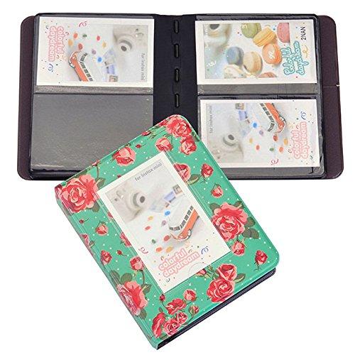 Yoption 64 Pockets Retro Rose Photo Album for Mini Fujifilm Instax Mini 8 7s 25 50s 90 Pringo231 Instax share SP-1 SP-2 Polaroid PIC-300 Polaroid Z2300 Name Card