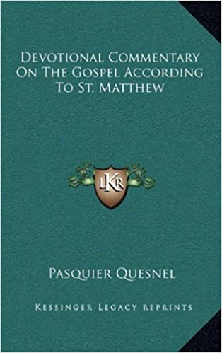 Devotional Commentary on the Gospel According to St. Matthew