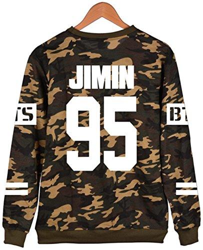 J Kook cappuccio BTS Jimin collo Rap Jin invernale SERAPHY Felpe Cappuccio Jung jimin Bangtan 95 a rotondo con Camou V Felpa Mostro Suga Hope nawZfdxdO