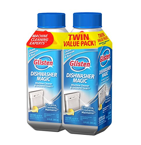 Glisten DM06T Dishwasher Magic Cleaner 2 Pack-Two 12 Ounce Bottles-EPA Registered Cleanser Eliminates 99.9% of E-coli and Salmonella (Dishwasher Magic Dishwasher compare prices)