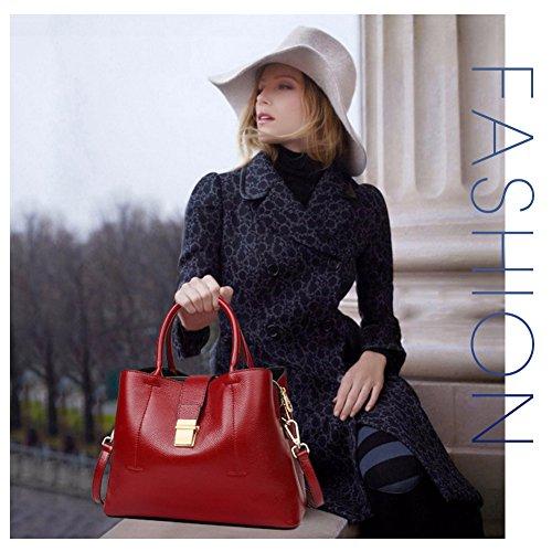 à main G bandoulière Main Paris porté femme CUIR Modèle Rouge et épaule en AVERI sac n1B481E