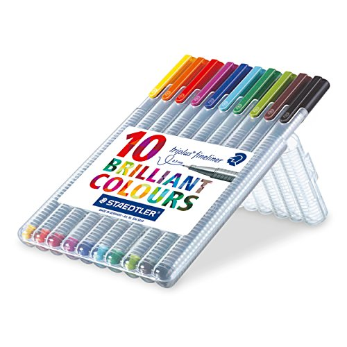 Staedtler Triplus Fineliner 0.3 mm Porous Point Pen 334 - SB10, 10 - Gifts You Online Give Can