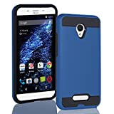 BLU Studio X8 HD case, {NFW} Tough Hybrid + Dual Layer Shockproof Drop Protection Metallic Brushed Case Cover for Studio X8 HD (S530) (VGC Blue)