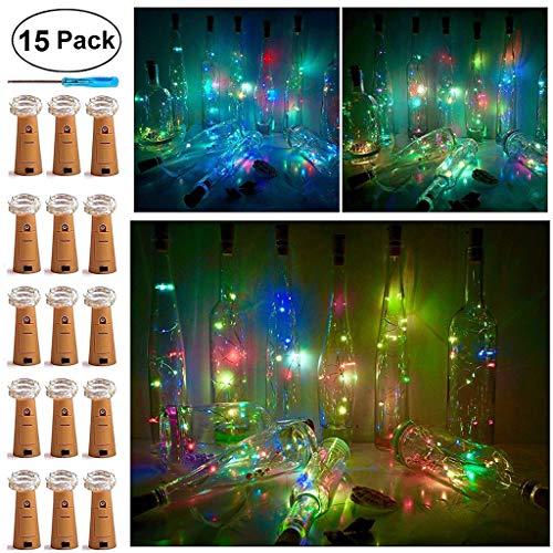 New 2019 15Pcs 1M Bottle Copper Lights+1Pc Screwdriver - Romantic Wedding Birthday Party LED Fairy Lamp, Home Decor