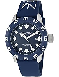 Unisex NAD09511G NSR 100 FLAG Analog Display Quartz Blue Watch · Nautica
