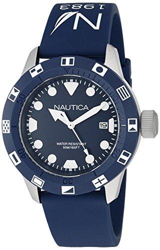 Nautica Unisex NAD09511G NSR 100 FLAG Analog Display Quartz Blue Watch (Dial Bezel Flag)