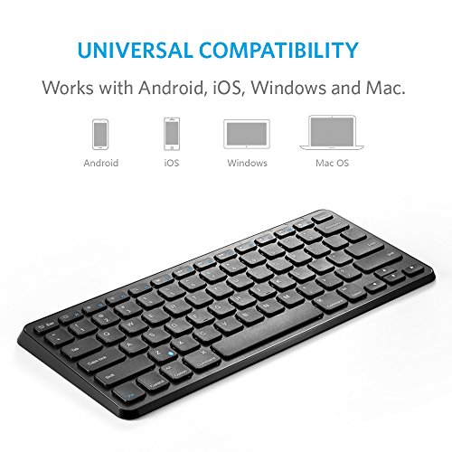 Anker Bluetooth Keyboard Android: Anker Wireless Bluetooth Keyboard Ultra Compact Slim Profile For IOS, Android, Windows And Mac