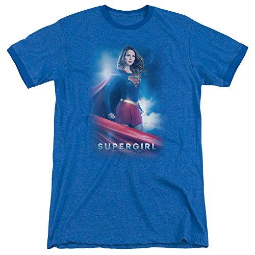 - Trevco Supergirl Kara Zor EL Unisex Adult Ringer T Shirt For Men and Women