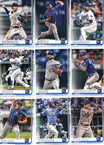 2019 Topps Series 1 Baseball Kansas City Royals Team Set of 12 Cards: Adalberto Mondesi(#22), Danny Duffy(#87), Ian Kennedy(#108), Salvador Perez(#168), Brett Phillips(#195), Whit Merrifield(#238), Jakob Junis(#252), Brad Keller(#270), Jorge -