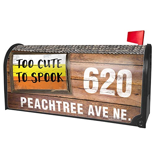 NEONBLOND Custom Mailbox Cover Too Cute to Spook Halloween Candy -