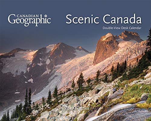 (Canadian Geographic Scenic Canada 2020 7.5 x 6 Inch Monthly Double-View Desk Calendar, Canada Travel Scenic Outdoor)